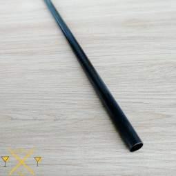 Paille inox droite noir