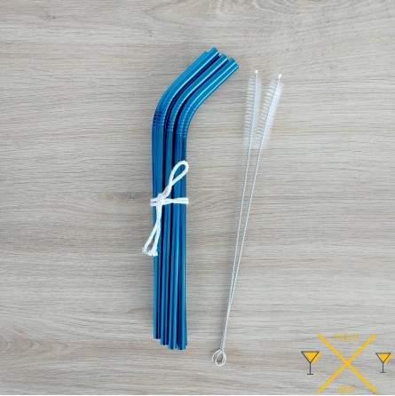 Superbe paille inox bleu en inox 304 pailleinox.fr expédiée de France