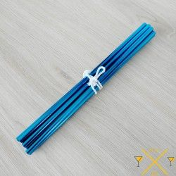Pailles inox de couleur Bleu, avec paillesinox.fr toutes nos pailles inox partent de France