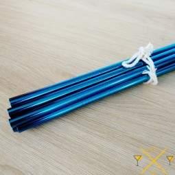 magnifique pailles bleues en Inox 18/10, stocks importants en France
