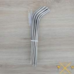 10 longues pailles INOX - 24,1 cm