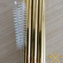 Importateur français de pailles en inox, voici les pailles inox smoothie de couleur OR