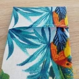Pochette tissu pour paille en inox fabriquée en France
